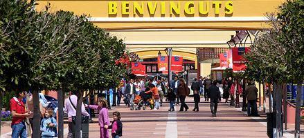 Imagen de la entrada al centro comercial Festival Park en Mallorca.