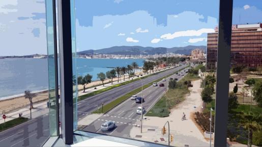 Espectaculares vistas desde el Palacio de Congresos.