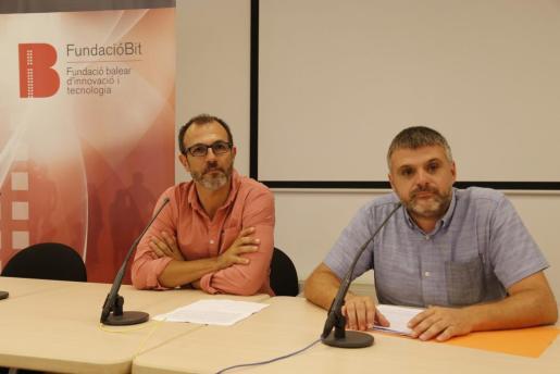 Biel Barceló y Pere Fuster, durante la rueda de prensa ofrecida este martes.