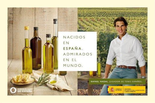 Rafael Nadal, en la imagen promocional del aceite de oliva.