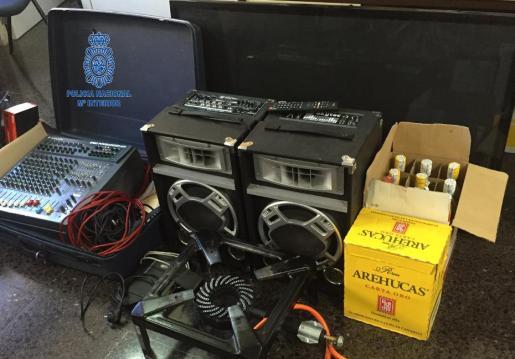 La mayoría de los efectos robados pudieron ser recuperados a excepción de algunas bebidas alcohólicas.