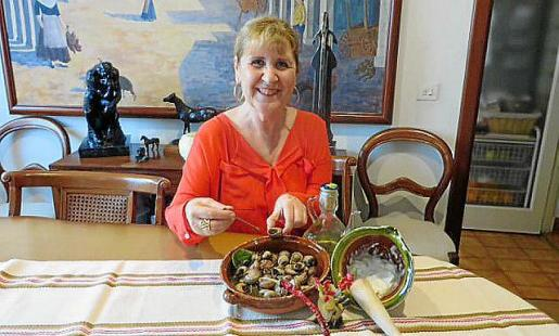 Caracoles de mi madre con ali oli, de Xisca Aguió.