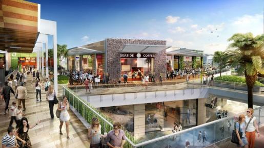 Recreación virtual del aspecto que tendrá el nuevo centro comercial FAN Mallorca Shopping.