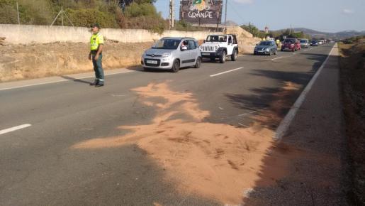 Lugar del accidente, tras la retirada de los cadáveres de las cuatro infortunadas víctimas.
