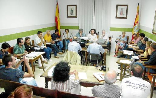 Imagen del pleno del pasado lunes en el Ajuntament de Felanitx.