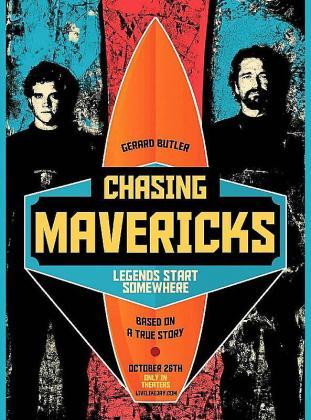 Cartel del film 'Persiguiendo Mavericks'.