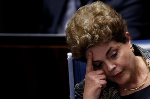 La ja expresidenta de Brasil, Dilma Rousseff durante el proceso que ha llevado a su destitución.