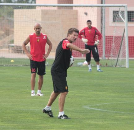 Laudrup, durante un entrenamiento del Mallorca.