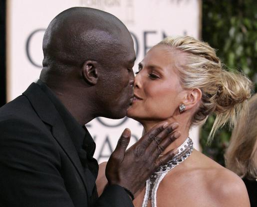 La pareja formada por Heidi Klum y Seal siempre se muestran cariñosos en público.