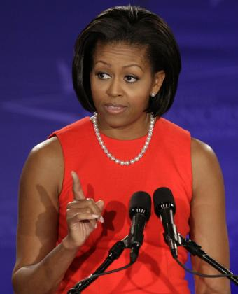 Michelle Obama, primera dama de los Estados Unidos.