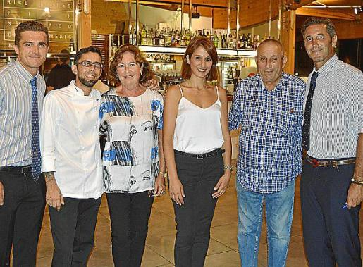Fernando Colom, Javier Veiga, Maria Magdalena Marimón, Franziska Kastel, Biel Perelló y Jaume Ramis.