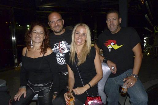 Angus López, Jorge García, Fanny Aguiló y Niko Amengual.