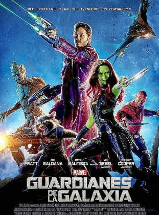 Cartel de la cinta 'Guardianes de la galaxia'.