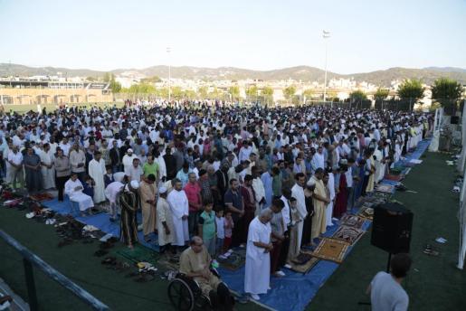 Los musulmanes afincados en Mallorca se han concentrado en Son Moix.