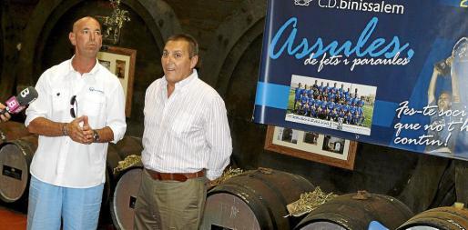 Jaume Vallés junto a Jeroni Salom.