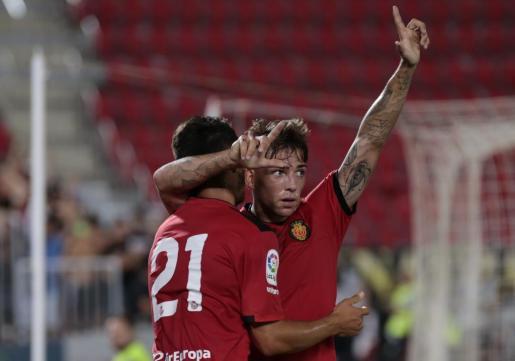 Brandon tras el gol marcado en la Copa del Rey.