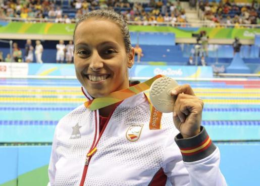 La ganadora de plata y atleta española, Teresa Perales.