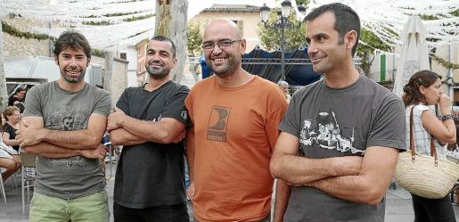 Francesc Mateu, Miquel Àngel Borràs, Pere Andreu Canals y Miquel Cabot.