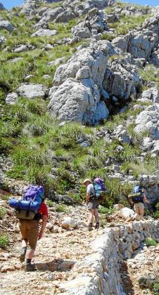 La ruta de la Pedra en Sec es una de las más demandadas por los senderistas centroeuropeos, tanto por su belleza natural como por su recorrido.
