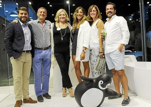 Javier Boned, Pere Rotger, Cati Pons, Laura Genestra Pons, Carmen Alosete y Alberto Torrens.
