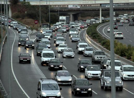Atascos en la edición del Día europeo sin coches de hace dos años.