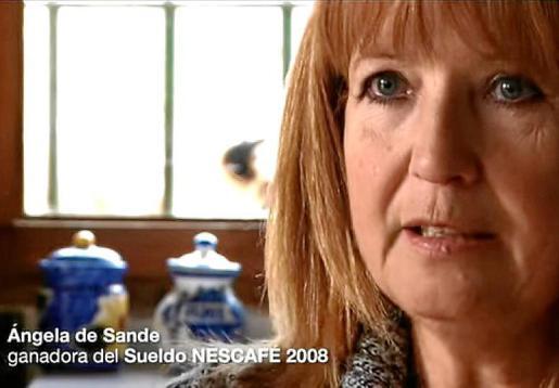 Ángela de Sande protagonizó un anuncio del sueldo para toda una vida.