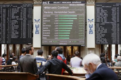Imagen de archivo de la bolsa española.