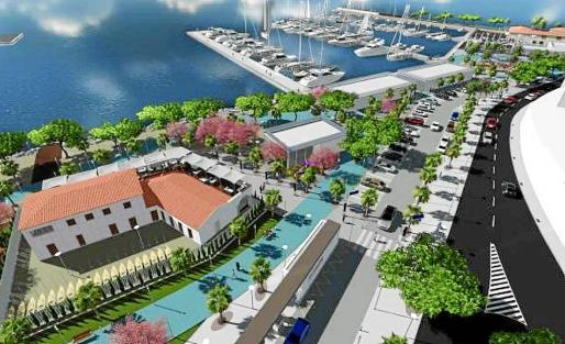 Propuesta de Marina Aucanada para la reforma y explotación del antiguo polígono naval en la primera línea del Port de Alcúdia.
