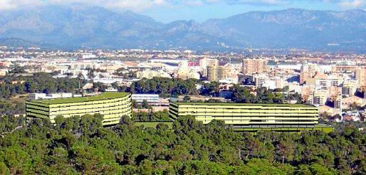 En la imagen se puede ver una proyección de cómo serán dos de los tres edificios.