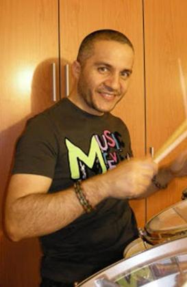 Javier Fernández, batería de Los Piaratas.