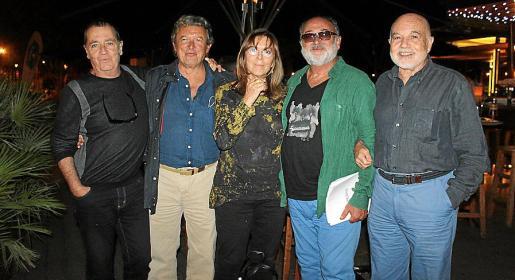 Pep Maür, Miquel Dols, Maria del Mar Bonet, Biel Mesquida y Antoni Borrás.