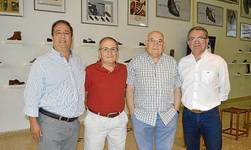 Tófol Barceló, Miquel Pons, Llorenç Lladó y Joan Rotger.