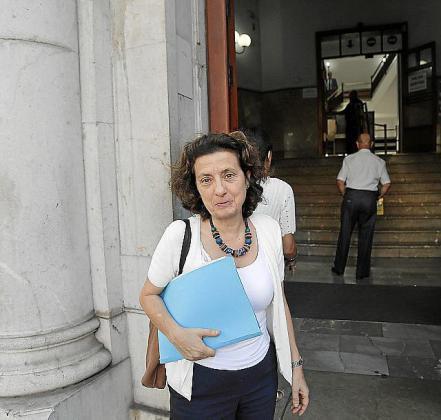 Fina Santiago, en los juzgados.