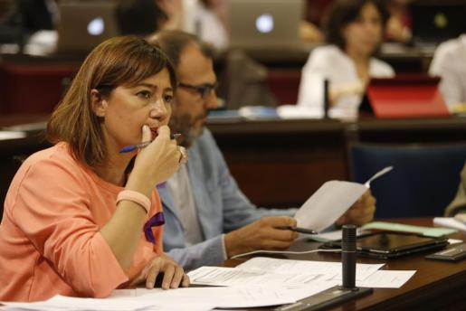 Francina Armengol junto Biel Barceló.