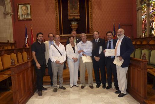 Jorge Maíz, Javier García, Tomás Alías, Mercedes Boixerau, Antonio Ortega, Ramón Francisco Martín, Miguel Àngel Vázquez, Héctor Bauzá y Miguel Picó.