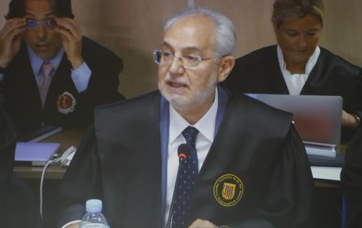 Lluís Segura, durante una sesión del juicio del caso Nóos.