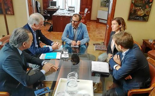 El conseller Biel Barceló, en la reunión de este jueves con los representantes de Exceltur.