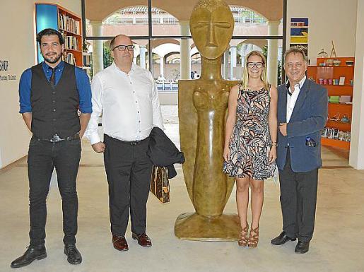 Albert Riera, Jaume Ferré, Marie Louise Solfield y Miquel Mascaró.