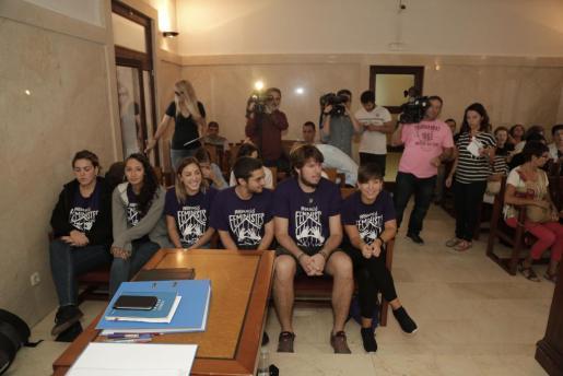 Este viernes se ha celebrado la segunda y última sesión del juicio a las feministas que irrumpieron en Sant Miquel.