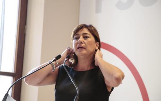 La presidenta del Govern Balear, Francina Armengol, este viernes durante su intervención en el Consell Polític de PSIB.