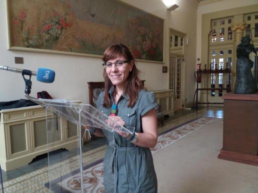 Laura Camargo, en el Parlament.