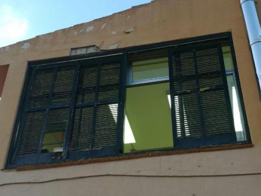 Imagen de los desperfectos del colegio Es Puig de Lloseta.