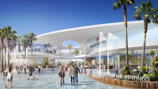 Este sría el aspecto que tendría, según el proyecto, Palma Springs, la gran superficie que quieren desarrollar en Ses Fontanelles.