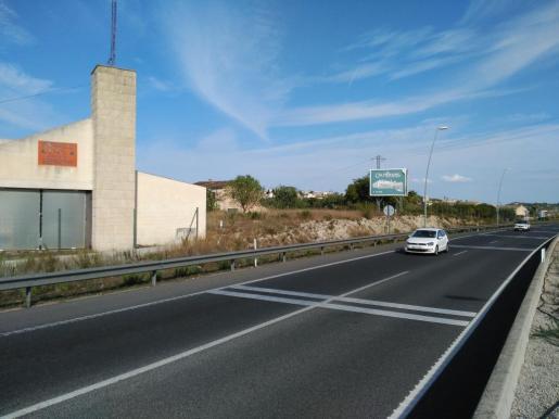 Imagen de la zona donde se ha retirado la valla publicitaria.