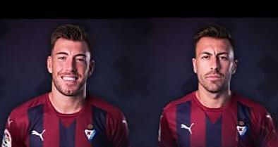 Sergi Enrich y Antonio Luna, futbolistas del Eibar.