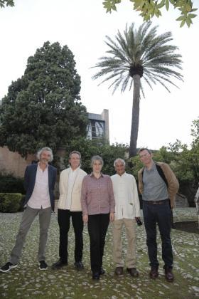 Josep Maria Fàbregas, Guillem Ferrer, Teresa Forcades, Satish Kumar y Rob Hopkins, ayer en Son Fortesa.