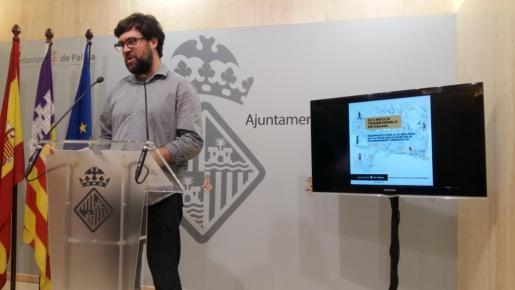 El regidor de de Urbanisme, Antoni Noguera, durante la rueda de prensa que ha ofrecido este martes en Cort.