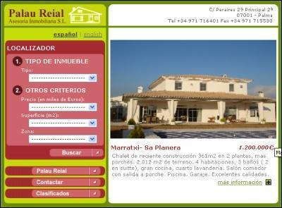 Imagen de la web de la inmobiliaria.