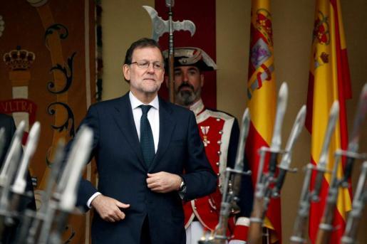 Mariano Rajoy, en la Fiesta Nacional.