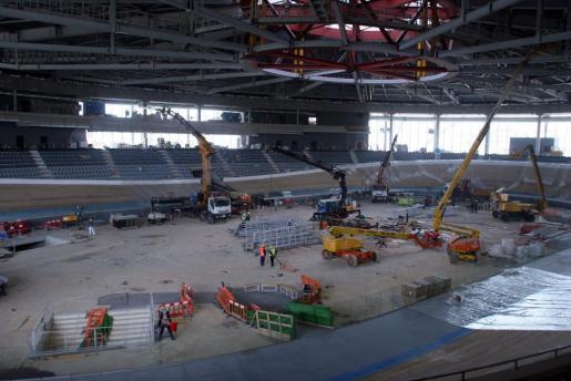 Obras en el Palma Arena.